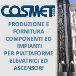 Cosmet 2000 Srl - Produzione e fornitura componenti ed impianti per piattaforme elevatrici ed ascensore