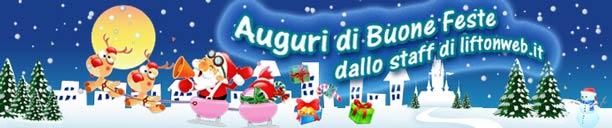 Auguri di Buone Feste e Felice Natale dallo staff di liftonweb.it